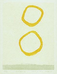 Mana Aki(安芸真奈)「Calm-4」 木版画   woodcut  http://www.angnet.com/gaka/art-b/b75.htm