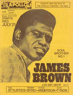 1971 Flyer for New York City's Apollo Theatre — James Brown