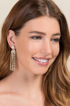 Irma Pearl Cupchain Drop Earrings | Holiday Party Earrings