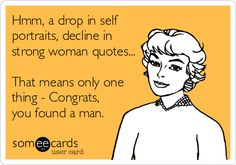 Hmm, a drop in self portraits, decline in strong woman quotes... That means only one thing - Congrats, you found a man.