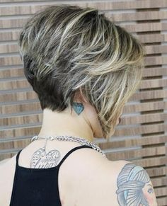 Looking for stacked bob hairstyles? Find stacked bob hairstyles pictures for graduated, fine hair, long hair, and layered hairstyles. Short Stacked Bob Haircuts, Short Hair Cuts, Short Hair Styles, Layered Haircuts, Short Bob With Undercut, Inverted Bob Hairstyles, Hairstyles Haircuts, Celebrity Hairstyles, Wedding Hairstyles