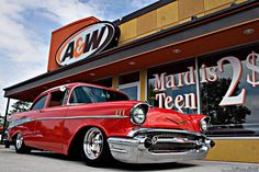 57 Chevy at a classic hangout