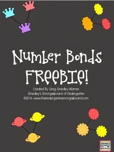 FREE number bond task cards and practice pages!