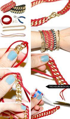 Elegantes pulseiras artesanais, faceis de fazer