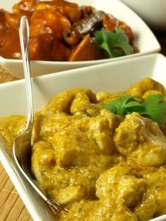 Rezept: schnell und einfach Korma (indisches) Huhn - L & # île aux épices - plat - Asian Recipes, Mexican Food Recipes, Healthy Recipes, Snacks Recipes, Pollo Korma, Lemon Butter Chicken, Shredded Chicken Recipes, Vegetarian Recipes Dinner, Indian Dishes