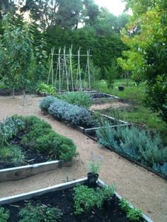 Potager - Kitchen Garden. Raised beds with stone paths.