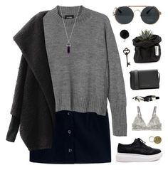 """""""christmas eve yay! / desc"""" by ruthaudreyk ❤ liked on Polyvore featuring A.P.C., Monki, Chicnova Fashion, STELLA McCARTNEY, Victoria Beckham, Aesop, Pier 1 Imports, Michael Kors and Jayson Home"""