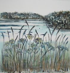 Stover in the Reeds by Maggie Smith from the Interpretations 3 exhibition at Harbour House, September 2015