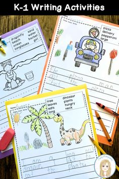 Kindergarten and First Grade Writing Activities | Every Day Is The Weekend