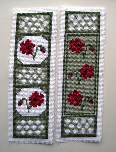 Twilleys Poppy Dawn cross stitch bookmarks