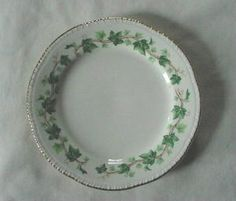 Pretty Vintage Homer Laughlin Boston Ivy Bread Plate Gold Trimmed Shaped Edges