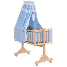 Wood Baby Cradle Rocking Crib Newborn Bassinet Bed Sleeper Portable Nursery Blue for sale online Nursery Furniture Collections, Nursery Furniture Sets, Toddler Furniture, Baby Cradle Wooden, Diy Zimmer, Baby Bassinet, Baby Kind, Baby Needs, Crib