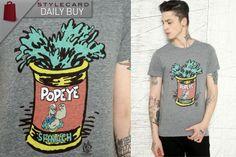 Altru Grey Popeye Tin Tee    http://style-card.co.uk/portal/2012/11/mens-monday-daily-buy-altru-grey-popeye-tin-tee/