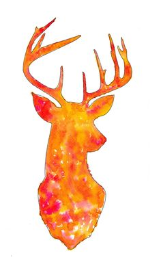 Deer head, would look fabulous on a canvas painted with watercolour paints. Watercolor Deer, Watercolor Animals, Watercolor Portraits, Watercolour Painting, Watercolors, Beading Patterns, Artsy Fartsy, Diy Art, Fun Crafts