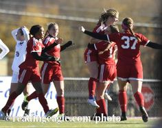 Fleetwood's Alexis Schoener (11) celebrates her game winning goal by jumping into the arms of Fleetwood's Alexis Nowotarski (19). GIRLS SOCCER Fleetwood Tigers defeat the Shikellamy Braves 3-2 in a PIAA Class 3A quarterfinal at Harman-Geist Memorial Field, Hazleton. Photo by Jeremy Drey 11/12/2016