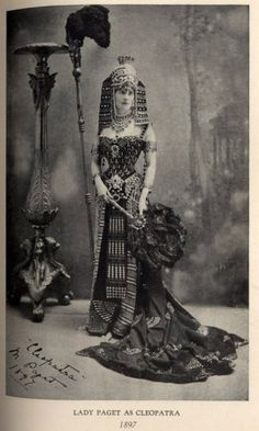 *swoon* cleopatra fancy dress by worth, 1897