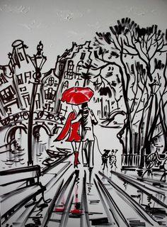 Nu in de #Catawiki veilingen: Elena Polyakova - Regenavond in Amsterdam
