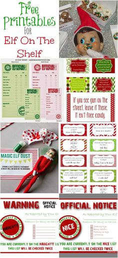 Free Elf on the Shelf Printables - printable jokes, notices, reports and more for this fun Christmas family tradition.