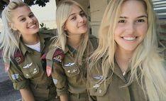 Bright head of the IDF! Young And Beautiful, Beautiful Women, Israeli Female Soldiers, Idf Women, Outdoor Girls, Fierce Women, Brave Women, Military Women, Girls Uniforms