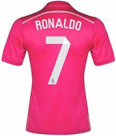 3234aed4d ADIDAS CRISTIANO RONALDO REAL MADRID AWAY JERSEY 2014 15 LA LIGA SPAIN.  Real Madrid