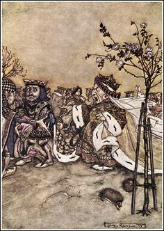 """1975 full Color Plate /"""" When Night Was Come and the Shop Shut Up/"""" Arthur Rackham"""