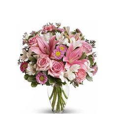 Impress someone special and near your heart with this mixed flower bouquet in pinks and whites. Flower Delivery Service, Floral Wreath, Bouquet, Wreaths, Heart, Flowers, Pink, Home Decor, Floral Crown