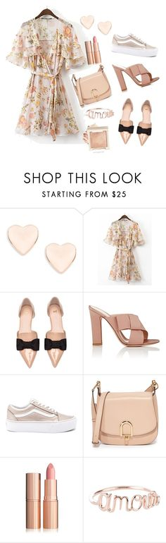 """""""Nude 2"""" by julia-sidorenko on Polyvore featuring Ted Baker, Gianvito Rossi, Vans and MICHAEL Michael Kors"""