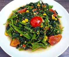 Asian Recipes, Ethnic Recipes, Indonesian Food, Seaweed Salad, Vegetable Recipes, Green Beans, Good Food, Food And Drink, Menu