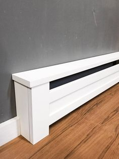 Shaker Style - Custom Baseboard Heater Covers - Custom Sizes Available - DIY INSTALL - Retrofit or New - Replacement Radiator Covers Baseboard Radiator, Baseboard Heater Covers, Electric Baseboard Heaters, Baseboard Heating, Baseboards, Baseboard Ideas, Baseboard Trim, Home Renovation, Home Remodeling