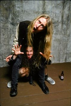 3096fdda342 Phil Anselmo, Riki Ractman, Dimebag, and Jerry Cantrell showing off ...