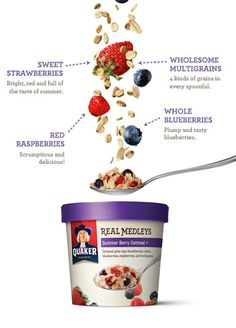 Sounds really good, must try!  Quaker Real Medleys - Summer Berry Oatmeal+
