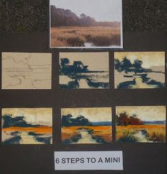 Painting My World: 6 Steps to a Mini Pastel Painting