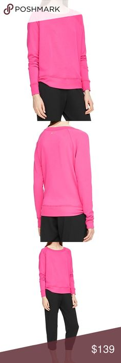 Kate Spade Relaxed Long Sleeve Pullover Kate Spade Relaxed Long Sleeve Pullover, size small, in deep carnation.  Slouchy fit.  Rib tab bow cinch at hem of side seams.  67% modal 28% polyester 5% spandex.  Brand new with tags! No trades. kate spade Sweaters