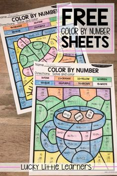 Do your students need extra practice with 2-digit addition and 2-digit subtraction with and without regrouping? Grab these free color by number sheets and use them with your students today! They are perfect for morning work, math centers, homework, and even math interventions!