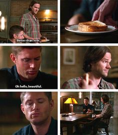 [gifset] 10x09 The Things We Left Behind #SPN #Dean #Sam<<Dean acting like he likes life again... should've known it was a sign. >:(
