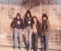 The Ramones, paying their respect to the  Elvis at Graceland, 1977.