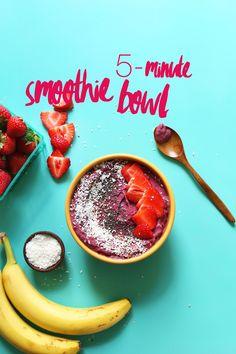 How to make the PERFECT 5-MINUTE Smoothie Bowl! Simple ingredients, naturally sweet, SO healthy! #vegan #glutenfree #smoothiebowl #recipe #healthy