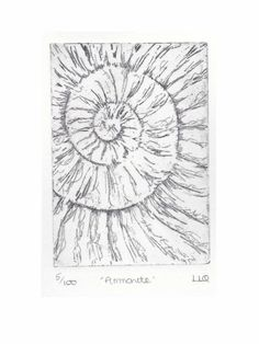 Etching no.5 of an ammonite fossil in an edition of 100 £30.00