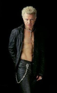 Black leather attire is his trademark