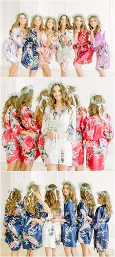 ac4f78d105 8 Best Floral bridesmaid robes images