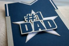 Father's Day Sports Jersey Card - Dallas football jersey.  Cowboy Blue/White by SassaScraps on Etsy, $4.00