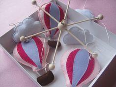 Babaforgó hőlégballonos, Játék, Baba-mama-gyerek, Baba játék, Gyerekszoba, Meska