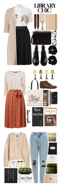 """Winners for Study Session: Library Chic"" by polyvore ❤ liked on Polyvore featuring Rails, Astraet, Philip Kingsley, library, George, Urban Decay, Gucci, EyeBuyDirect.com, Accessorize and Dimond"