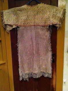 Old Nez Perce Pacific Indian Buckskin Style Glass Bead Dress 300 Cowrie Shells   eBay