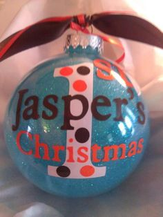 Hey, I found this really awesome Etsy listing at http://www.etsy.com/listing/116677234/babys-first-christmas-personalized