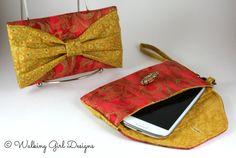 Sari Phone Case Clutch Wristlet Smart Phone by WalkingGirlDesigns