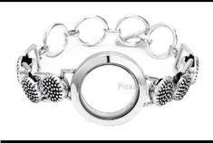 Antique Silver Floating Charm Toggle Clasp #bracelet  Interchangeable Jewelry