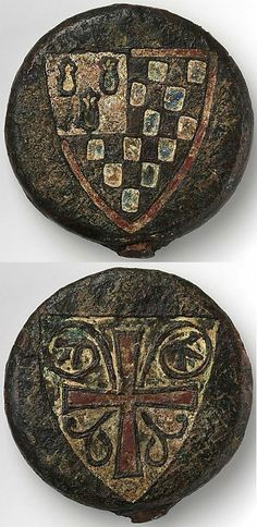 Sword pommel decorated with the arms of Pierre de Dreux, Duke of Brittany, who was captured during the Seventh Crusade at the Battle of al-Mansurah in Egypt on February 8, 1250. He was later ransomed and released, but died during his return to France.