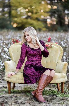 Victoria Velvet Dress - Burgundy
