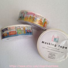 Deco Tape London Paris New York Scene Travel by funzHome on Etsy, $3.33